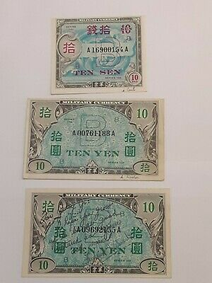 Allied Occupation of Japan Military Currency - 10 sen/10 yen