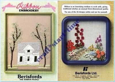 RIBBON EMBROIDERY : Berisfords : 16 PATTERNS : 1986 : VGC