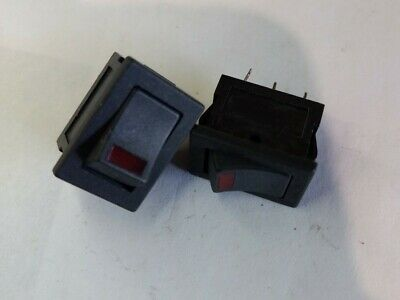 Mouser Mountain Switch Rocker Switches  5A 125V LED RED 107-DS850K-OR