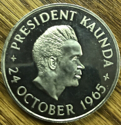 1965 Five Shillings Zambia President Kaunda 24 October 1964 Independence
