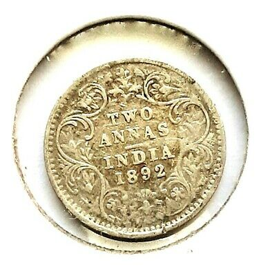 India 2 Anna 1892 World Coin