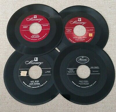 Lot of 4 RALPH MARTERIE 45 MERCURY VG+ to VG- 1953-1958 45rpm clean + free disc