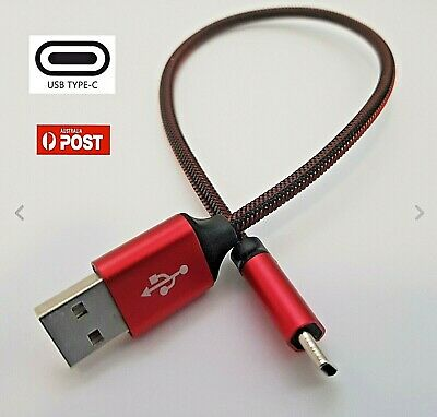 Type-C USB Data Snyc FAST Charger Charging Cable Short 30cm Samsung S9+ S8 Note9
