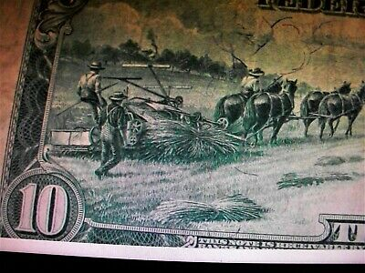 1914 $10 Ten Dollars  Federal Reserve Note  Xf/Au Cleveland
