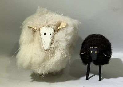 Fluffy White Sheep And Black Sheep For Display