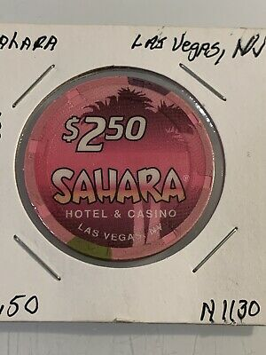 SAHARA $2.50 Casino Chip Las Vegas Nevada 3.99 Shipping