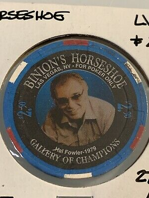 BINION'S HORSESHOE WORLD SERIES OF POKER $2.50 Casino Chips Las Vegas Nevada