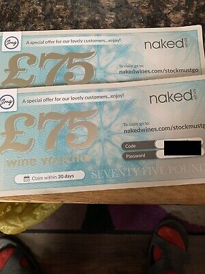 Naked Wine Voucher £75.00 - All Proceeds To Nhs Trust) Stay Safe # Nhs #