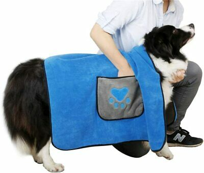 Dog Pet Drying Towel Super Absorbent Heavy Duty Double Sided 100cm x 70cm NEW