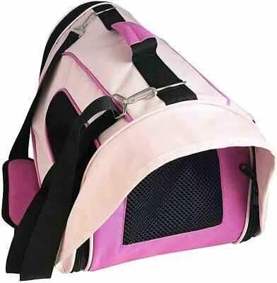 Large Pink Pet Carrier Travel Bag With Shoulder Strap  Portable & Foldable NEW