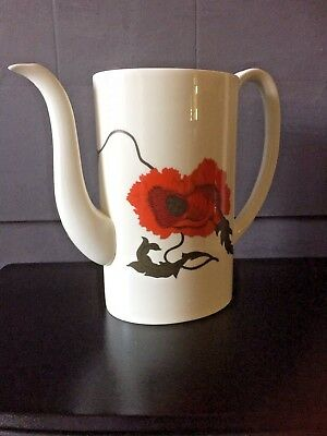 Susie Cooper Design Replacement Coffee Pot Only Corn Poppy By Wedgewood Nice