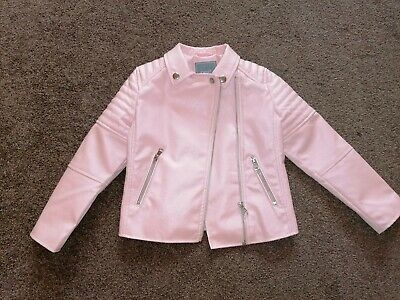 Girls Pink Leather Jacket By NEXT age 5-6