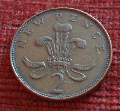 1971 New Pence Coin UK Rare 2p 2 pence piece