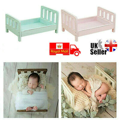 Lovely Newborn Wood Bed Photo Photography Props Shoot Gift Infant Posing UK