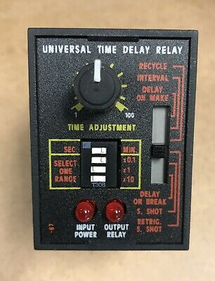 Solid State SSAC Timer Time Delay Relay TRU2 4593 Made in USA , old/new stock