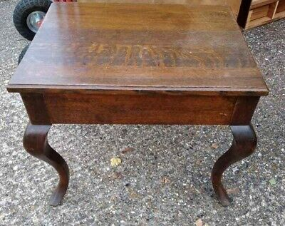 Small Hardwood Occasional Table With Storage