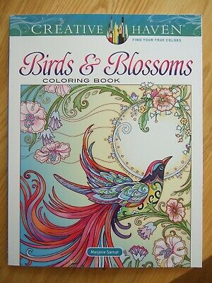 Adult Colouring Book-Creative Heaven- Birds And Blossoms