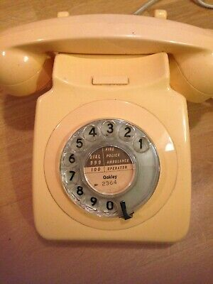 GPO/BT 1970's WORKING  ROTARY/PULSE DIAL 746 VINTAGE TELEPHONE, NN4 collection