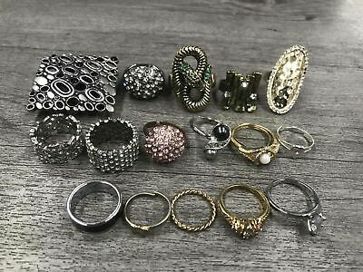 Costume Jewelry Rings Stretch Band Sparkle Stones