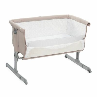 Chicco Next2Me Baby Crib, Cot (Beige) includes Mattress