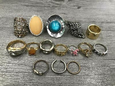 Costume Jewelry Rings Lot Cocktail Style Sparkles
