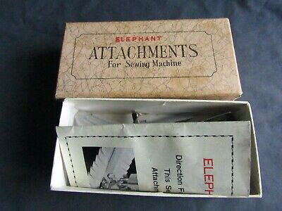 Vintage Singer Sewing-Box Of Low Shank Attachments/Feet