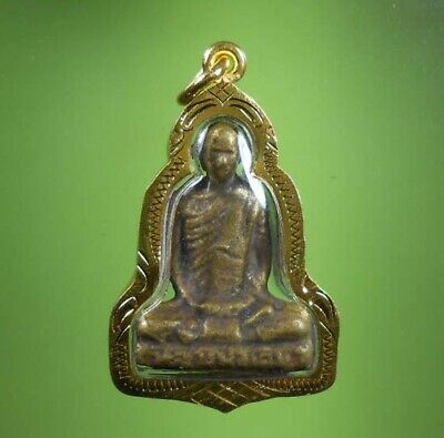 Top! Real Lp Derm Statue Old Thai Amulet Very Rare !!!