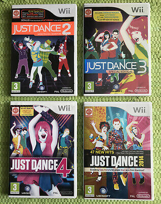 Just Dance Nintendo Wii Bundle Just Dance 2, 3 Special Edition, 4, 2014 VGC!! UK