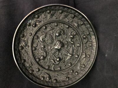Very Rare Old Chinese Bronze Carving Mirror
