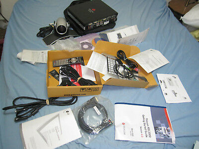 Polycom HDX 8000 Video Conference System With Everything In The pictures.