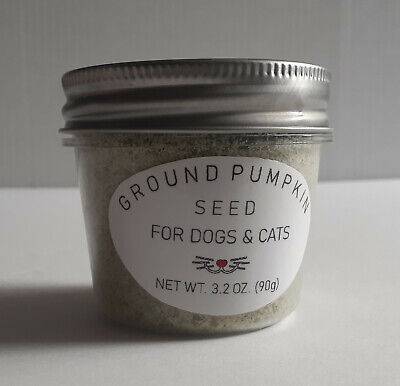 Ground Pepitas Pumpkin Seed + Natural Digestive Enzyme Dewormer For Cats & Dogs
