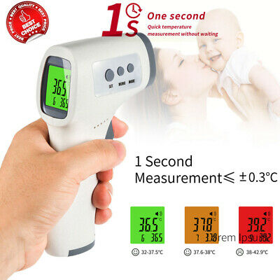 LCD Digital IR Infrared Thermometer Non-contact Temperature Ear Forehead Skin US