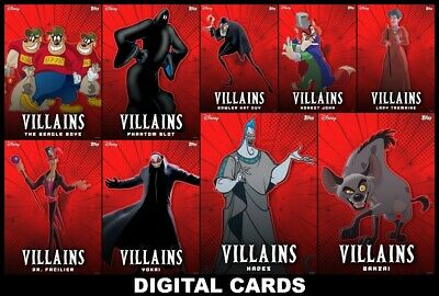 Topps Disney Collect VILLAINS Series 3 [9 CARD SET] FAST DELIVERY!