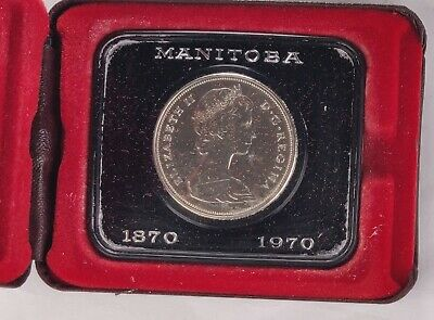 1970 Canada One Dollar Coin Manitoba OGP
