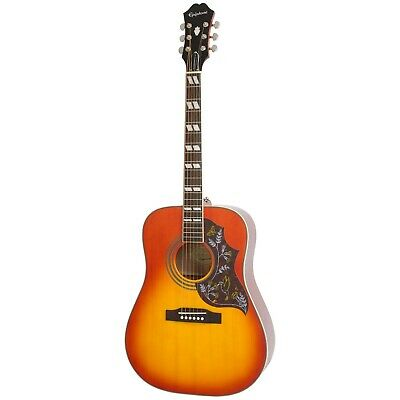 Epiphone Hummingbird Pro Acoustic/Electric Guitar, Rosewood Neck, Faded Cherry B