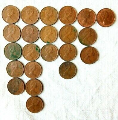 40 + UK decimal half pennies 1/2p issue dates between 1971 and 1982