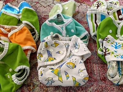 12 Thirsties Size 1  Diaper Covers (with rare Hope) and 18 Cloth-eeze Prefolds