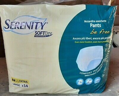 84 Pannoloni SERENITY be free Pants Extra  tg.Large per incontinenza adulti 6x14