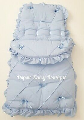 Blue Ribbon Foot Muff Cosy Toes Pram Nest