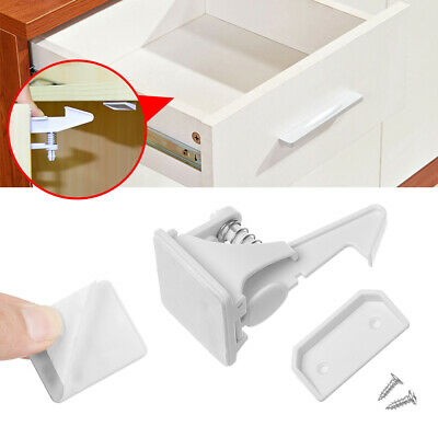 Invisible Blocker Drawer Lock Closet Locker Secure Catches Locks For Kids