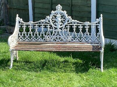 Coalbrookdale Style Cast Iron Garden Bench For Refurb Delivery Possible
