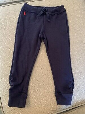 Ralph Lauren Girls Tracksuit Bottoms Trousers Joggers 4t Age 4