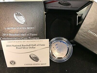 2014 NATIONAL BASEBALL HALL OF FAME COMMEMORATIVE Proof SILVER DOLLAR