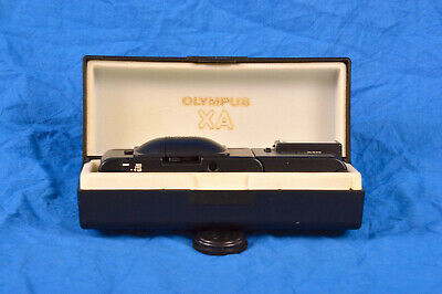 Olympus XA with A16 flash and case