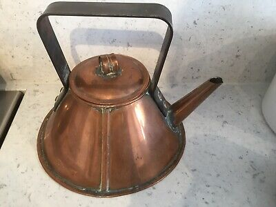 Arts And Crafts Movement Christopher Dresser Style Barge Kettle. C 1910