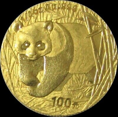 2001 GOLD CHINA 7.73 GRAMS 100 YUAN 1/4oz UN-SEALED PANDA COIN