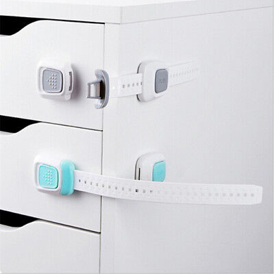 Baby Kids Adhesive Door Cupboard Cabinet Fridge Drawer Safety Locks Hardware IT
