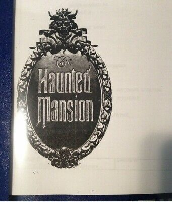 Disney's Haunted Mansion Training guide. Standard operating procedure.