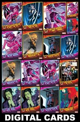 Topps Marvel Collect MUSICIANS 2020 [18 CARD BLUE/YELLOW SET] Mary Jane+++