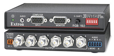 Extron RGB 192V Universal Computer PC Video & Audio Interface QXGA